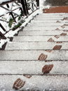 Footprints On The Snow Stock Photography - 11380062