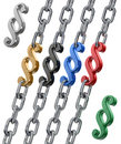 Paragraph In Chains V2 Royalty Free Stock Photography - 11389287