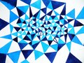 Blue White Polygon Abstract Watercolor Painting Background Illustration Royalty Free Stock Photos - 113819038