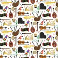 Pattern With Musical Instruments Royalty Free Stock Photos - 113826018