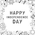 Frame With Israel Independence Day Holiday Flat Design Black Thi Royalty Free Stock Image - 113861216