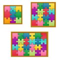 Set Collection Jigsaw Puzzle Game Royalty Free Stock Photo - 113877015