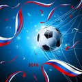 Soccer Ball With Confetti. Vector Stock Images - 113879894