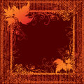 Grunge Frame With Autumn Leafs. Thanksgiving Stock Photos - 11406053