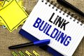 Conceptual Hand Writing Showing Link Building. Business Photo Showcasing Process Of Acquiring Hyperlinks From Other Websites Conne Royalty Free Stock Photo - 114174265