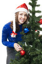 Woman Prepare For New Year Stock Photography - 11438382