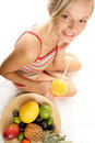 Woman With Fruits Stock Photography - 11446522