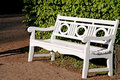 Lonely Bench In Garden . Stock Image - 11454791
