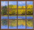 Autumnal Throught Window, Stock Images - 11459164