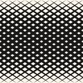 Vector Halftone Geometric Pattern With Rhombuses, Diamond Shapes, Diagonal Grid. Stock Images - 114501624