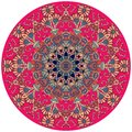 Decorative Plate In Indian Style. Round Carpet Royalty Free Stock Photo - 114518825