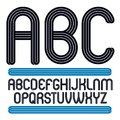Vector Funky Capital Alphabet Letters Collection, Best For Use I Royalty Free Stock Photo - 114552725
