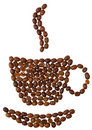 Coffeebeans Cup On White Background Royalty Free Stock Image - 11468796