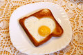 Toast With A Hearty-like Fried Egg Royalty Free Stock Image - 11479076
