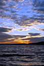 Spectacular Evening Sky After Sunset Over A Lake Royalty Free Stock Photos - 11488298
