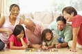 Extended Family Group Playing Board Game Royalty Free Stock Photo - 11502595