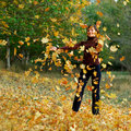 Girl In Autumn Leafs Royalty Free Stock Images - 11505559