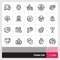 Shipping And Logistic Line Vector Icons Set. Parcel Delivery Related Icons. Royalty Free Stock Photography - 115064227