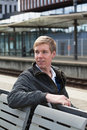 Young Blond Man In Railway Station Stock Images - 11516774