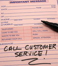 Call Customer Service Message Royalty Free Stock Photos - 11519248