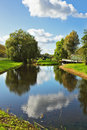 The River In Holland. Warm Day Royalty Free Stock Photography - 11522997