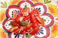 Salad Of Tomatoes And Onions Stock Image - 115237461