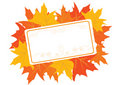 Autumnal Frame With Maple Leaves Royalty Free Stock Photos - 11531998