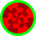 Abstract Cherry Puzzle In Color 14 Royalty Free Stock Photos - 11535298