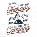 Vintage Hand Drawn Camping T Shirt Design. Wanderlust, Thematic Tee Graphics. Typography Poster With Mountains And Tent Stock Photos - 115328923