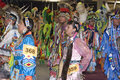 Native Americans Promenade During Pow Wow Ceremony Royalty Free Stock Photos - 11550428