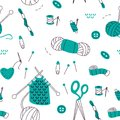Doodle Hand Drawn Handmade Seamless Pattern. Stock Images - 115556154