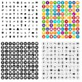 100 South America Icons Set Vector Variant Royalty Free Stock Photo - 115589725