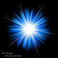 Blue Firework Or Sunburst Stock Photos - 11566823