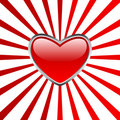 Heart Button With Stripes Stock Photography - 11567762