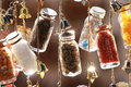 Decorative Bottles On A String Royalty Free Stock Photo - 11587815