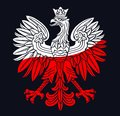 Poland Eagle In National Colors Royalty Free Stock Photos - 115928488