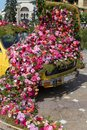 Beautiful Floral Decoration Of An Old Car In Timisoara, Romania Stock Photo - 115963350