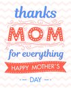 Happy Mothers Day Typography Royalty Free Stock Photography - 115991047