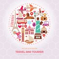 Travel And Tourism Vector Illustration Stock Photo - 116027930