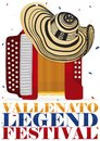 Traditional Vueltiao Hat Over Accordion For Vallenato Legend Festival, Vector Illustration Stock Images - 116133594