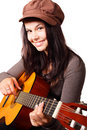 Young Woman Playing Guitar Royalty Free Stock Images - 11625109