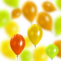 Celebratory Background From Coloured Balloons Royalty Free Stock Images - 11626699