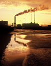 Factory At Sunset Stock Image - 11640271