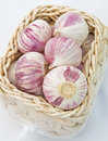Cloves Of Garlic In A Basket. Stock Photography - 11650992