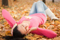 Young Woman Rest In The Autumn Park Stock Images - 11654044