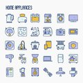 Home Appliances Thin Line Icons Set Stock Image - 116543591