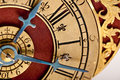 Detail Of Antique Gold And Red Clock Royalty Free Stock Photography - 11663337
