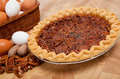 Pecan Pie With Ingredients On A Cutting Board Royalty Free Stock Photo - 11666245
