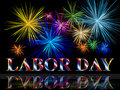 Labor Day With Fireworks Royalty Free Stock Photo - 11677485