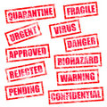 Grunge Rubber Stamps Stock Image - 11679871